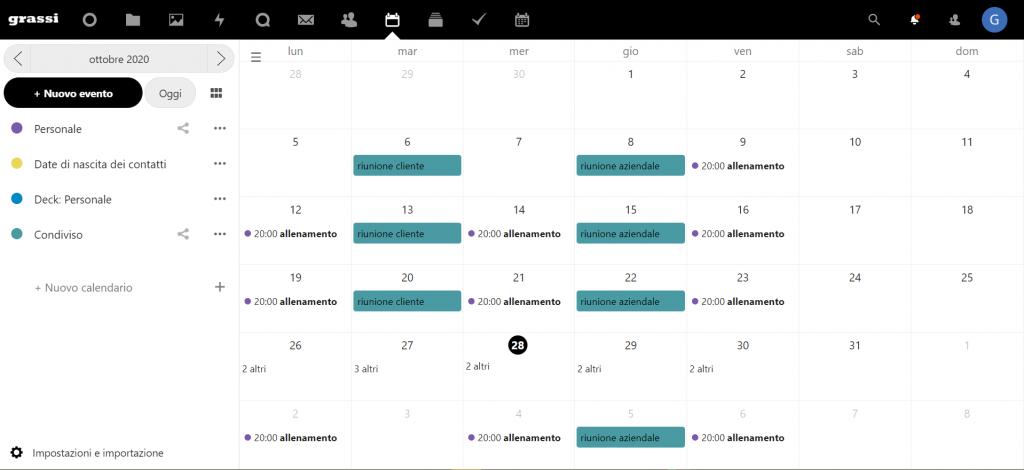 Calendario GCloud